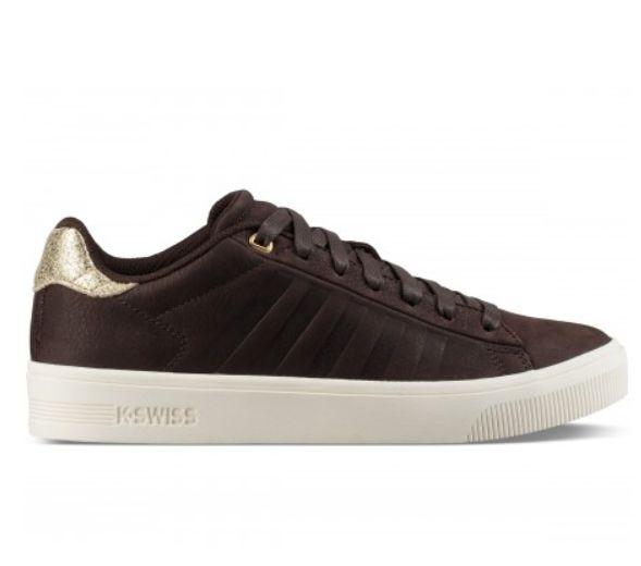 Frasco dames95453 266 Swiss bruin Court sneakers goud K ikwOZTXuP