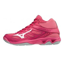 Mizuno Thunder Blade Mid roze korfbalschoenen dames