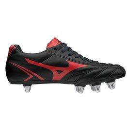 Mizuno Monarcida SI zwart rood rugbyschoenen heren