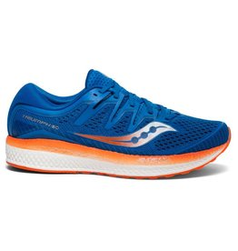 Saucony Triumph ISO 5 blauw oranje hardloopschoenen heren