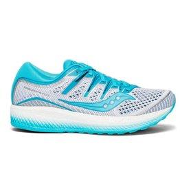Saucony Triumph ISO 5 wit blauw hardloopschoenen dames