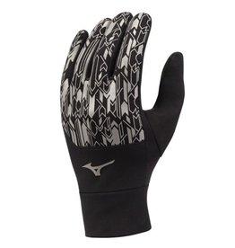 Mizuno windproof hardloophandschoenen zwart