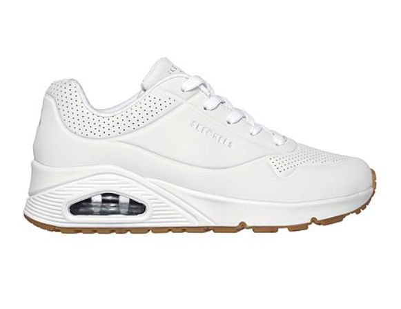 Skechers Uno Stand on Air wit sneakers dames (73690 WHT)