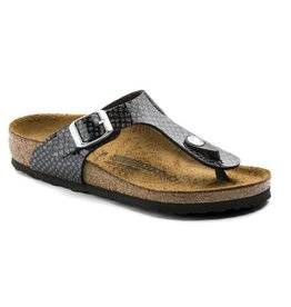 Birkenstock Gizeh Magic Snake zwart narrow sandalen meisjes  (S)