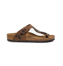 Birkenstock Gizeh bruin narrow sandalen kids