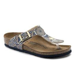 Birkenstock Gizeh oriental mosaic blauw narrow sandalen meisjes (S)