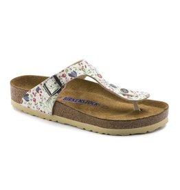 Birkenstock Gizeh SFB Meadow Flowers beige sandalen dames