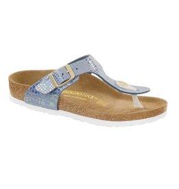 Birkenstock Gizeh Shiny Snake blauw narrow sandalen meisjes (S)