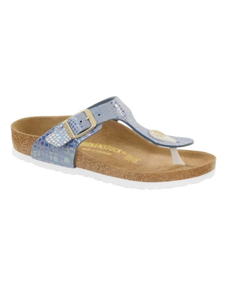 Birkenstock Birkenstock Gizeh Shiny Snake blauw narrow sandalen meisjes