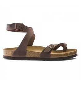 Birkenstock Yara Nubuk mocca Regular sandalen dames (S)