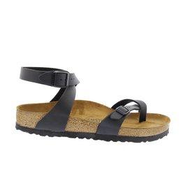 Birkenstock Yara Nubuk zwart Regular sandalen dames (S)