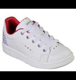 Skechers Omne wit rood sneakers meisjes