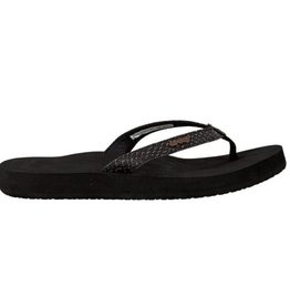 Reef Star Cushion Sassy zwart slippers dames