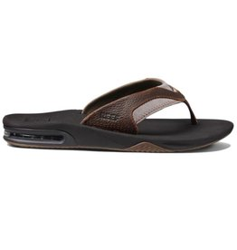 Reef Leather Fanning bruin slippers heren