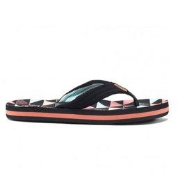 Reef Kids AHI Surf Flag zwart roze slippers kids