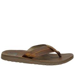 Reef Voyage Lux cognac slippers heren