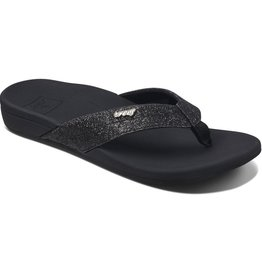 Reef Ortho-spring zwart slippers dames