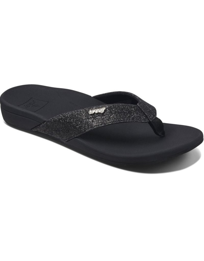 speciale promotie beste website meer foto's Reef Reef Ortho-spring zwart slippers dames
