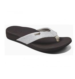 Reef Ortho-spring bruin wit slippers dames