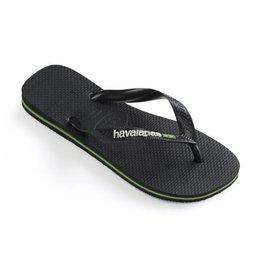 Havaianas Brasil logo zwart slippers kids