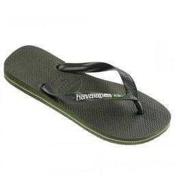 Havaianas Brasil logo groen slippers heren