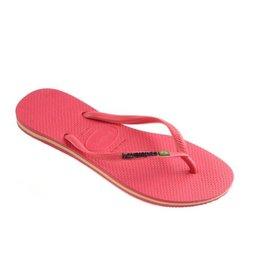 Havaianas Slim Brasil Logo Flamingo roze slippers dames