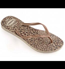 Havaianas Slim Animals bruin beige slippers dames