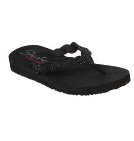 Skechers Meditation- Glam Gladiator zwart slippers dames