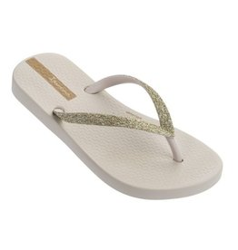 Ipanema Lolita beige glitter slippers meisjes
