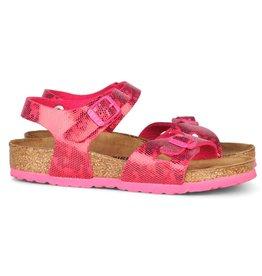 Birkenstock Rio Hologram narrow roze sandalen meisjes