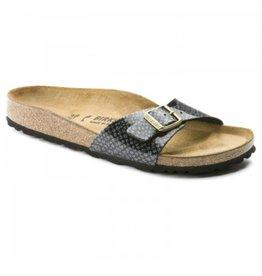 Birkenstock Madrid Magic Snake zwart slippers dames