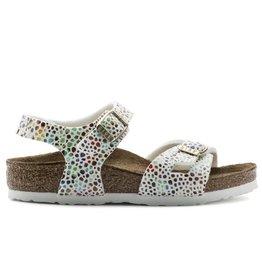 Birkenstock Rio Oriental mosaic wit narrow slippers meisjes