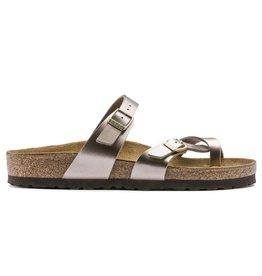 Birkenstock Mayari Electric Metallic taupe slippers dames