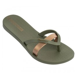 Ipanema Kirey groen goud slippers dames