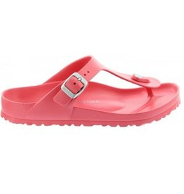 Birkenstock Gizeh Eva coral regular slippers dames