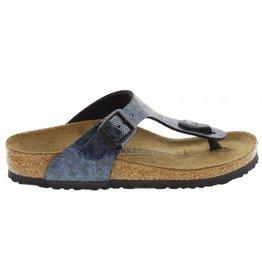 Birkenstock Gizeh Hologram narrow zwart sandalen kids