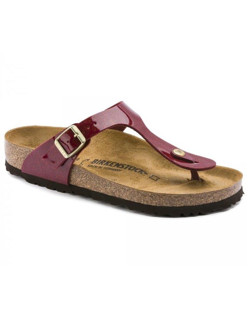 Birkenstock Birkenstock Gizeh Magic Snake bordeaux slippers dames