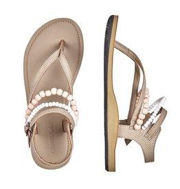 O'Neill FM Batida Beads taupe beige sandalen dames