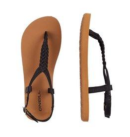 O'Neill FM Braided Ditsy Plus zwart sandalen dames