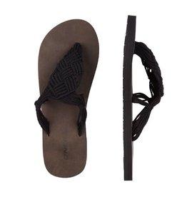 O'Neill FM Crochet zwart slippers dames