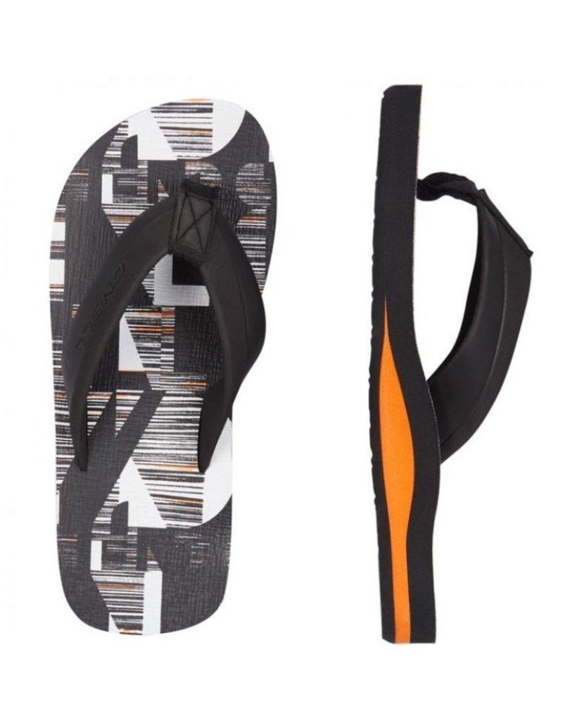 O'Neill O'Neill FM Imprint Pattern zwart slippers kids