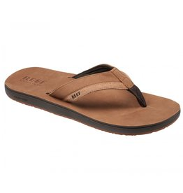Reef Leather Contoured Cushion bruin slippers heren
