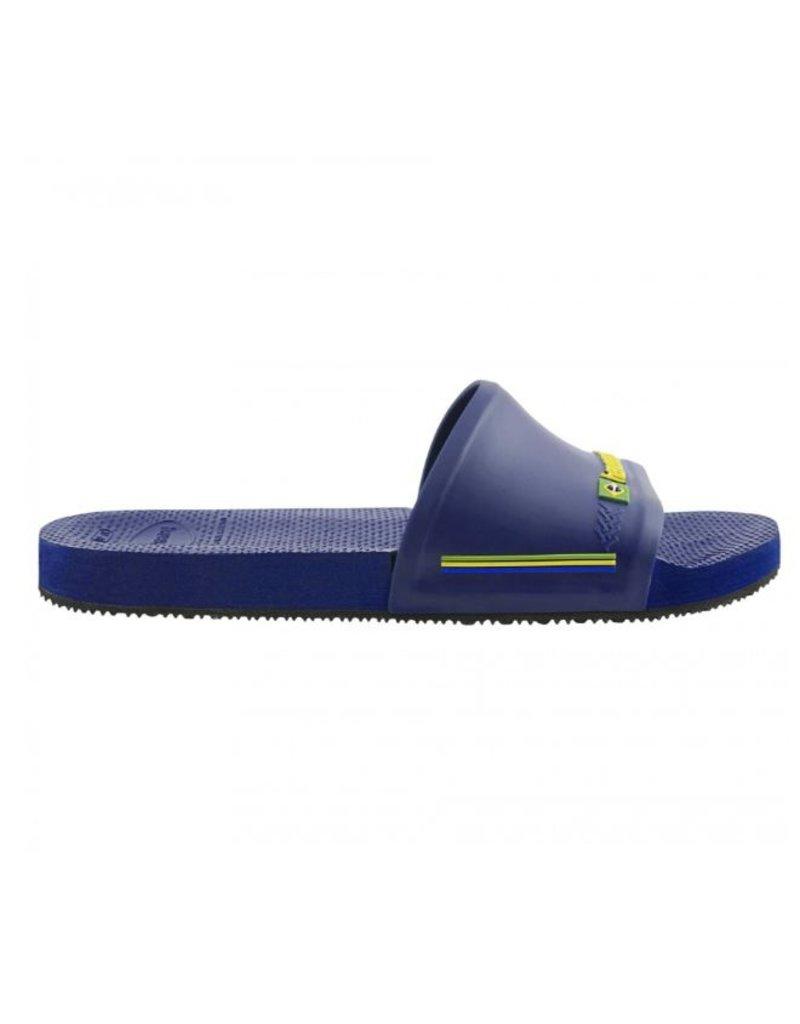 Havaianas Havaianas Slide Brasil blauw badslippers heren