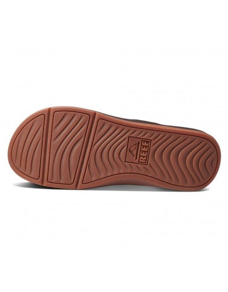 Reef Reef Leather Ortho-Bounce Coast bruin slippers heren