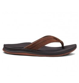 Reef Leather Ortho-Bounce Coast bruin slippers heren