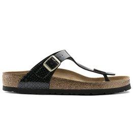 Birkenstock Gizeh Magic Snake zwart slippers dames