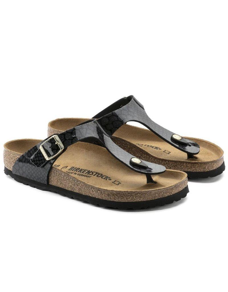 Birkenstock Birkenstock Gizeh Magic Snake zwart slippers dames