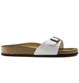 Birkenstock Madrid  Patent wit narrow sandalen dames