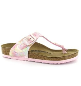 Birkenstock Gizeh narrow roze multi sandalen meisjes