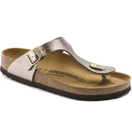 Birkenstock Gizeh Electric Metallic taupe sandalen dames
